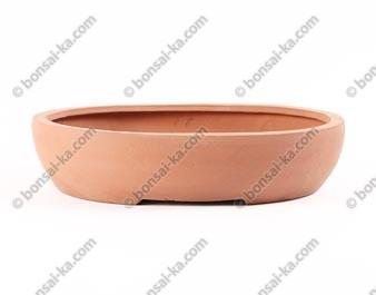 Pot à bonsaï ovale en grès brut 290x220x65mm