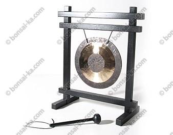 Gong de table Chinois en bronze 30cm