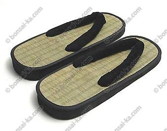 Sandales japonaises Zori Y en paille de riz