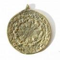 Pendentif calendrier Tibétain en laiton