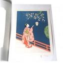 Ukiyo-e Jeune fille sous un cerisier - Harunobu Suzuki - 21x30 cm