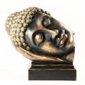 Statue Bouddha sommeilllant polychrome résine 40 cm