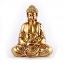 Bouddha doré statuette en résine 20 cm