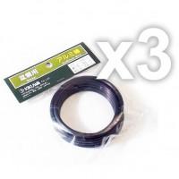 Fil de ligature aluminium assortiment 3 bobines 4+5+6 mm