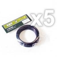 Fil de ligature aluminium assortiment 5 bobines 1 à 5 mm