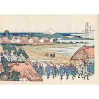 Estampe Japonaise Hokusai 36 vues du mont Fuji - Quartier Senju