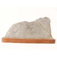 suiseki roche paysage 18 cm sur daï suds122